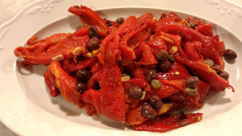 Peperoni Forno-olive-capperi-peperone